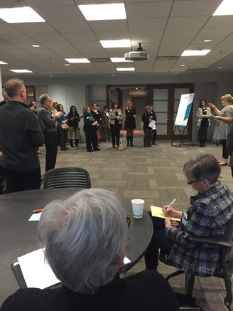 A room full of community members at the Community Engagement Session