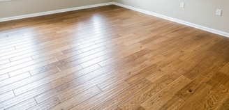 Photograph of wood plank flooring