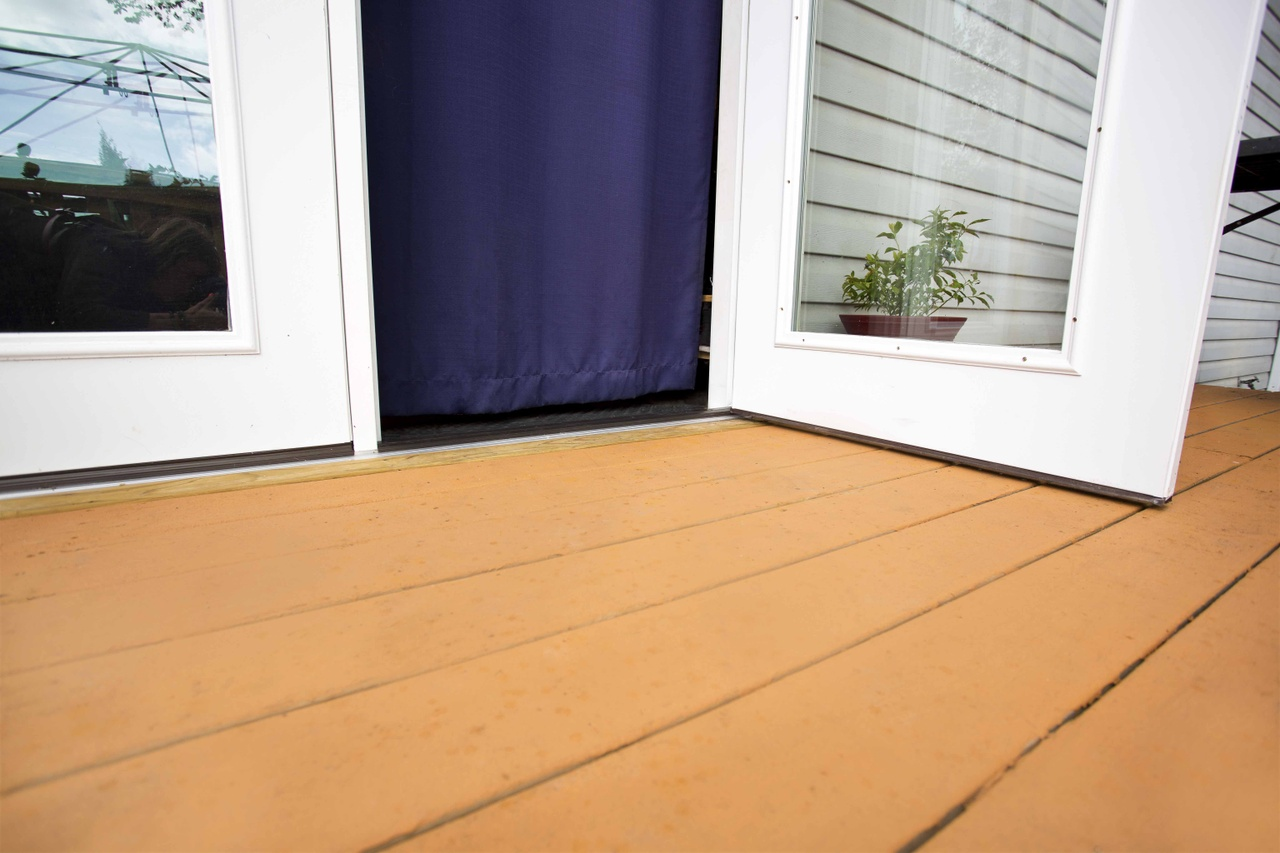 A Ramp Leads To Patio With An Extra Wide Zero Threshold Door Into The Home